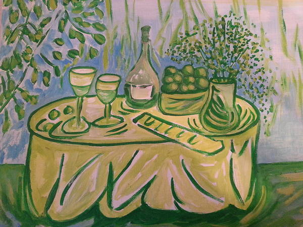 Painting - Dining In Sonoma by Nikki Dalton