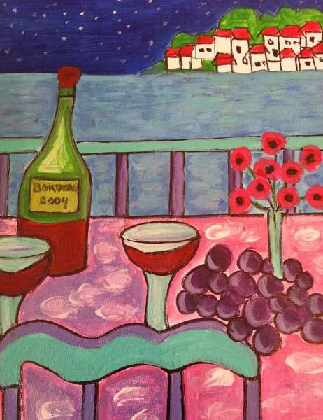 Painting - Dining In The Med by Nikki Dalton