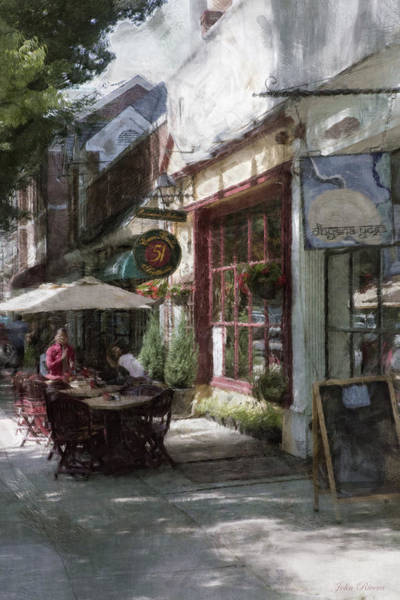 Dining Outside Art Print