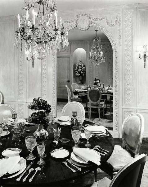 Table Setting Photograph - Dining Room Designed By Audre Fiber by William Grigsby