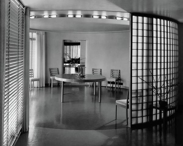 Shutters Photograph - Dining Room In Mr. And Mrs. Alfred J. Bromfield by Hedrich-Blessing