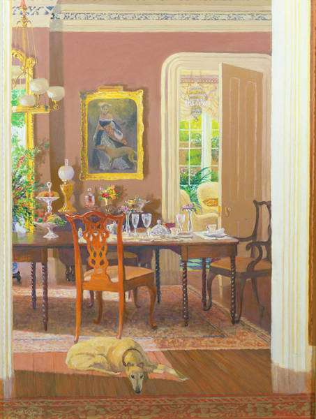 Wall Art - Photograph - Dining Room Victorian Style Oil On Board by William Ireland