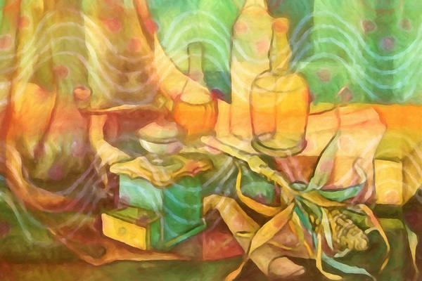 Painting - Diningroom Stillife by Lutz Baar