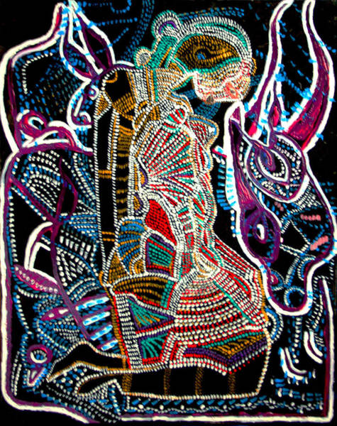 Dinka People Painting - Dinka Bride by Gloria Ssali
