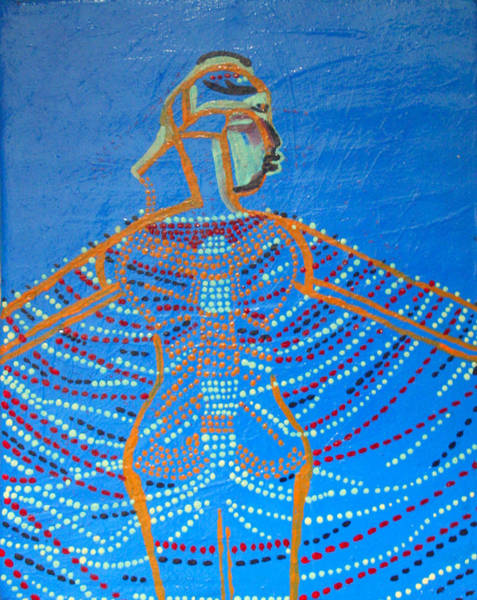 Dinka People Painting - Dinka Corset by Gloria Ssali