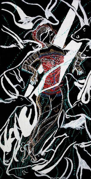 Painting - Dinka Dance by Gloria Ssali