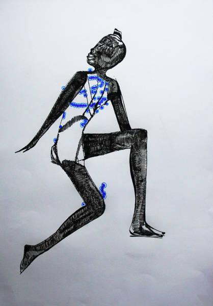 Dinka People Drawing - Dinka Silhouette - South Sudan by Gloria Ssali