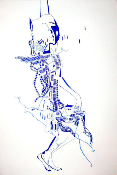 Traditional Dances Drawing - Dinka Totem - South Sudan by Gloria Ssali