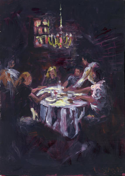 Painting - Dinner Party by Susan Moore