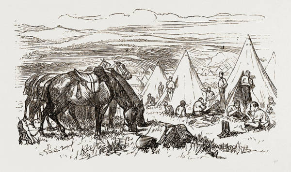 Royal Artillery Wall Art - Drawing - Dinner-time In The Camp Of The Royal Artillery by Litz Collection