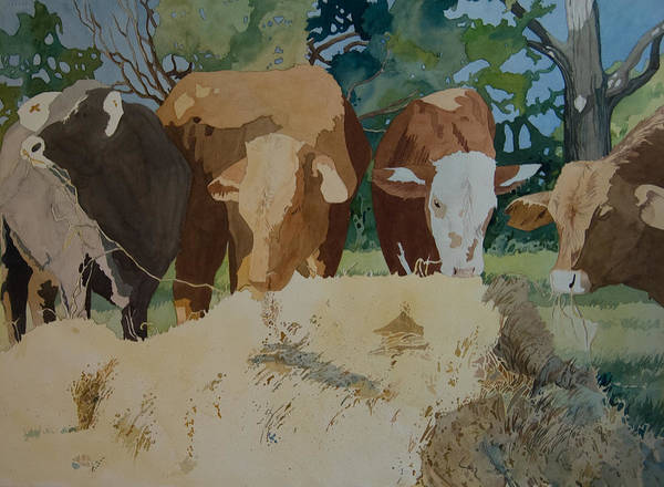 Painting - Dinner Time by Terry Holliday