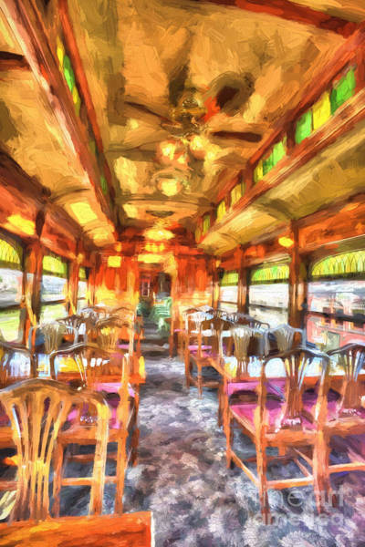 Photograph - Dinning Car by Paul W Faust -  Impressions of Light