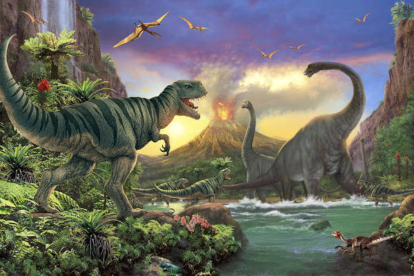 Dinosaurs Photograph - Dino Attack Variant 1 by MGL Meiklejohn Graphics Licensing