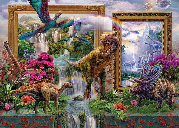 Wall Art - Digital Art - Dinoblend by MGL Meiklejohn Graphics Licensing