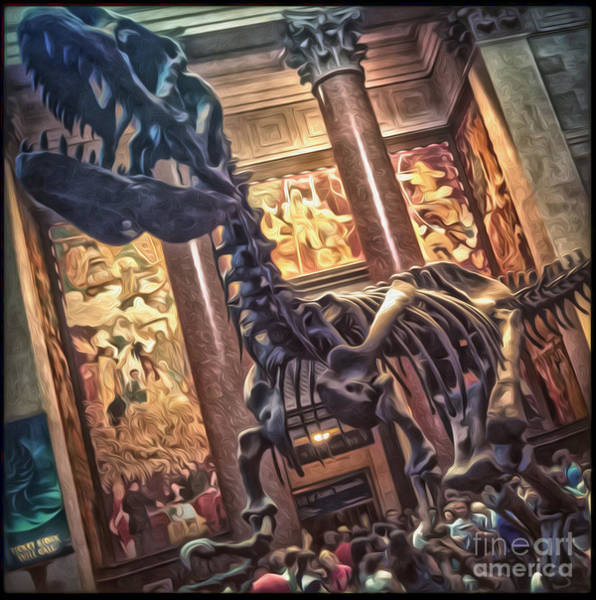 Photograph - Dinosaur At The Natural History Museum - 02 by Gregory Dyer
