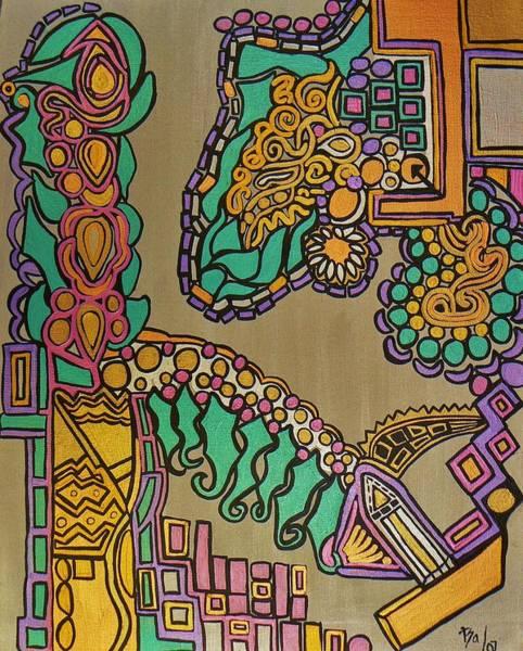 Painting - Dinosaur Dragon by Barbara St Jean