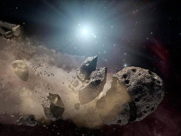 Disintegrate Photograph - Dinosaur-killing Asteroid by Nasa/jpl-caltech/science Photo Library