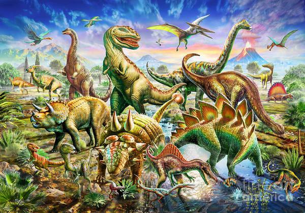 Extinct Wall Art - Photograph - Dinoscene   by MGL Meiklejohn Graphics Licensing
