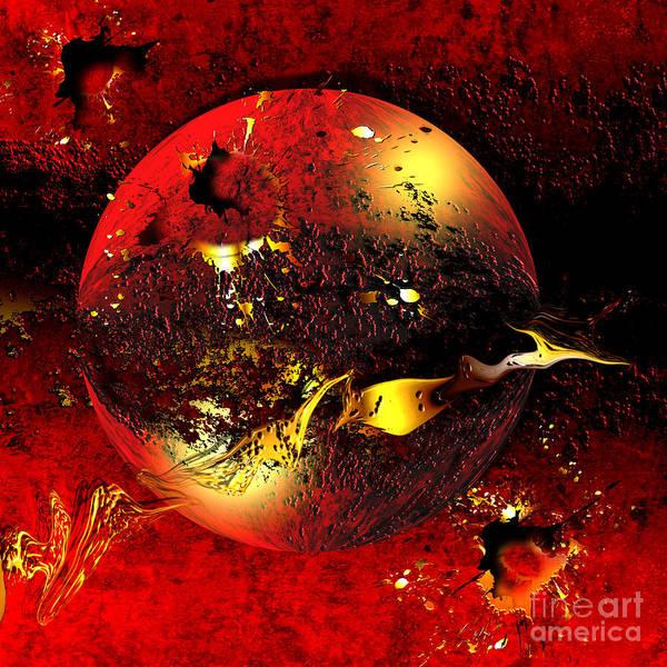 Red Planet Digital Art - Dinyx by Franziskus Pfleghart