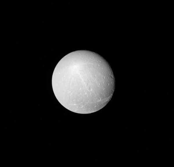 Dione Photograph - Dione, Moon Of Saturn by Science Source