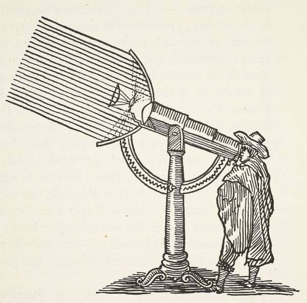 Scientists Wall Art - Drawing - Dioptric Telescope by French School