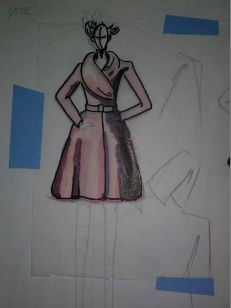 Wall Art - Drawing - Dior by Troix Johnson
