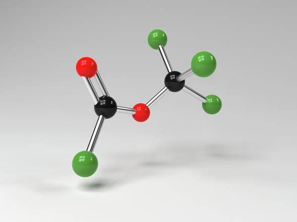 Computer Generated Wall Art - Photograph - Diphosgene Molecule by Indigo Molecular Images
