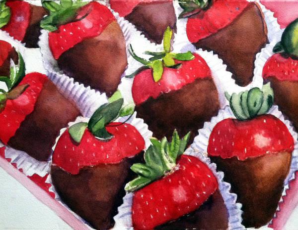 Dipped Strawberries Art Print