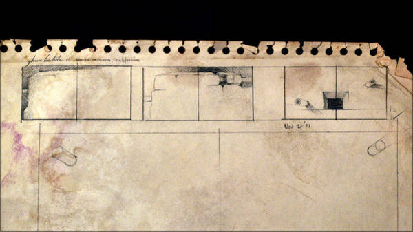 Drawing - Diptych 1971 by Glenn Bautista