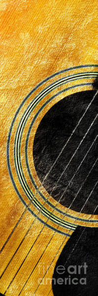 Photograph - Diptych Wall Art - Macro - Gold Section 1 Of 2 - Vikings Colors - Music - Abstract by Andee Design