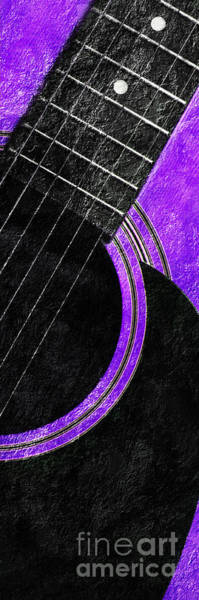 Photograph - Diptych Wall Art - Macro - Purple Section 2 Of 2 - Vikings Colors - Music - Abstract by Andee Design