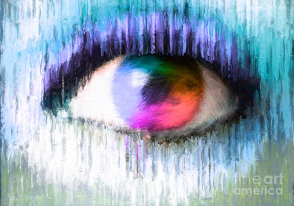 Nonprofit Digital Art - Direct Eye Contact Blue by Holley Jacobs