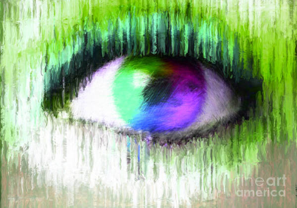 Nonprofit Digital Art - Direct Eye Contact Green by Holley Jacobs