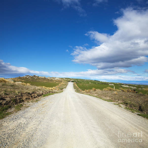 Country Road Photograph - Dirt Road Otago New Zealand by Colin and Linda McKie