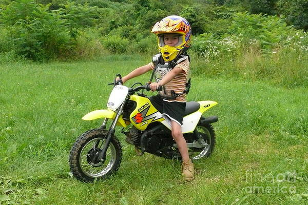 Dirtbike Photograph - Dirtbiking Boy by Betsy Cotton