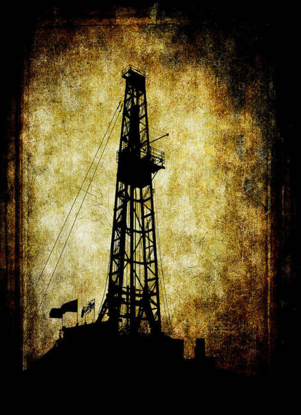 Petroleum Wall Art - Digital Art - Dirty Derrick by Daniel Hagerman
