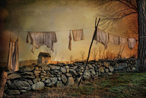 Linen Wall Art - Photograph - Linen On The Line by Robin-Lee Vieira