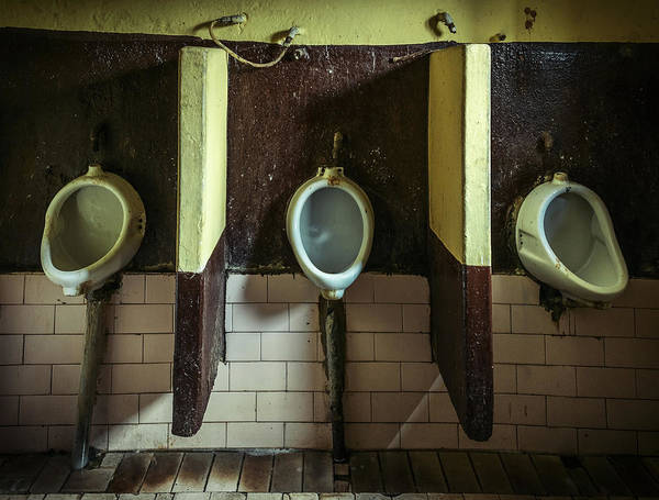 Water Closet Photograph - Dirty Urinals by Dutourdumonde Photography