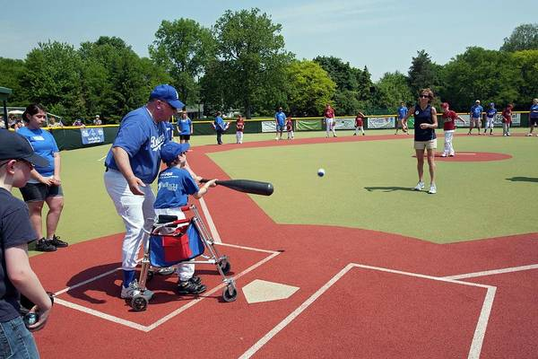 Softball Photograph - Disabled Baseball Game by Jim West
