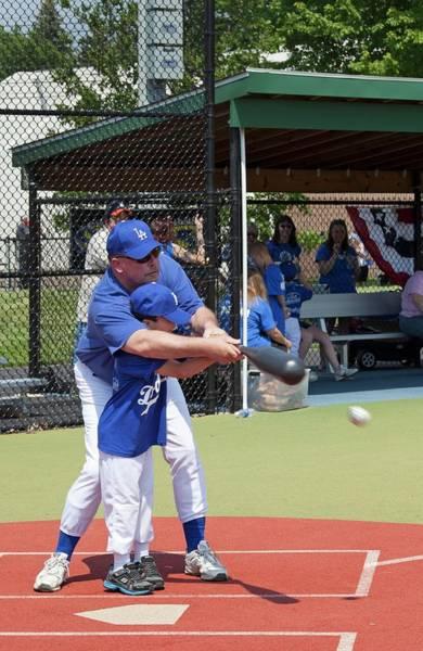 Softball Photograph - Disabled Boy Playing Baseball by Jim West