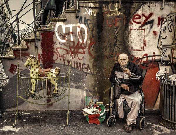 Photograph - Disabled Person And Rocking Horse by Roberto Pagani