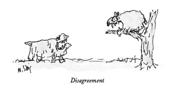 Bare Tree Drawing - Disagreement by William Steig