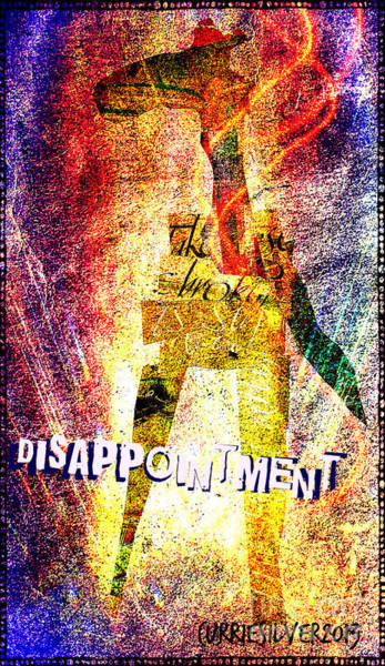 Digital Art - Disappointment by Currie Silver