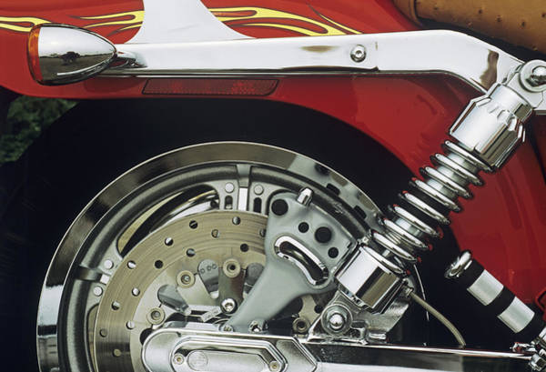 Brake Wall Art - Photograph - Disc Brake System by Sally Mccrae Kuyper/science Photo Library