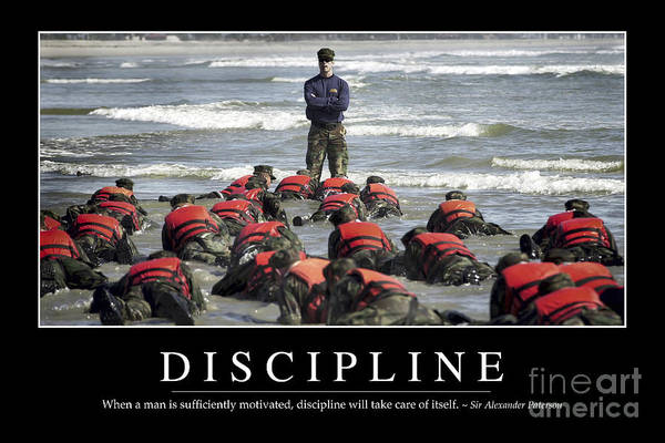 Wall Art - Photograph - Discipline Inspirational Quote by Stocktrek Images