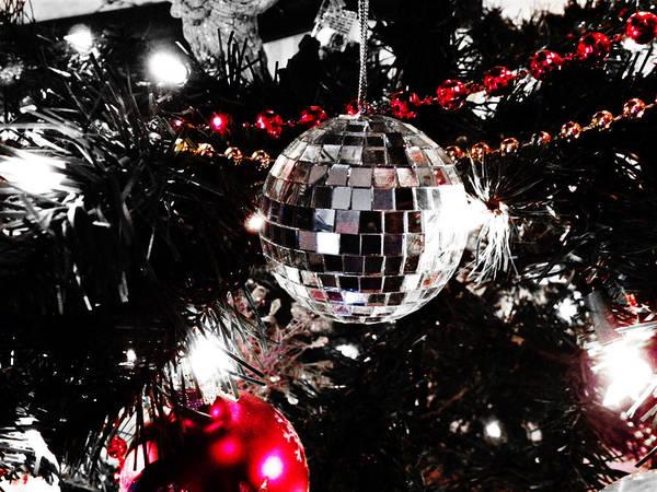 Photograph - Disco Ball Christmas Card by Sharon Popek