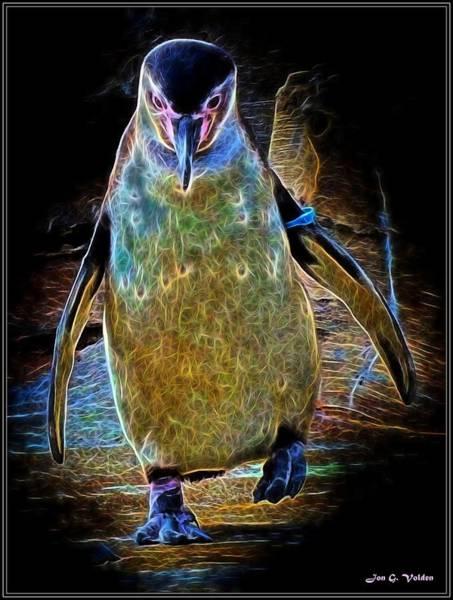 Painting - Disco Penguin by Jon Volden