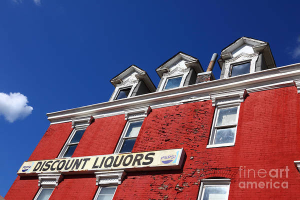 Photograph - Discount Liquor Store by James Brunker