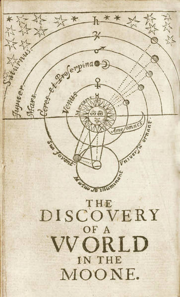 Title Page Wall Art - Photograph - Discovery Of A World In The Moone (1638) by Library Of Congress