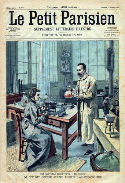 Radioactive Photograph - Discovery Of Radium By The Curies by National Library Of Medicine